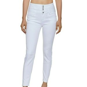 WAX LaceUp Corset White Jeans BRAND NEW